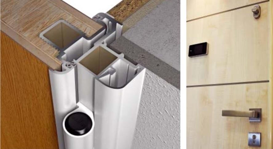 Wohnungseingangstür  Graute Aluminium: Graute Wohnungseingangstür - Einfach nachrüsten